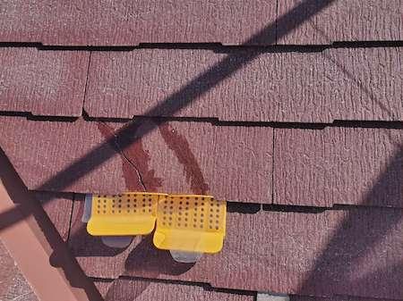 スレート屋根 クラック(ひび割れ)処理