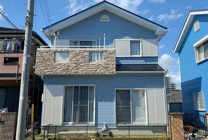 初めての塗り替え!艶を抑えたブルーグレーで新築当時の色を再現 藤沢市S様邸